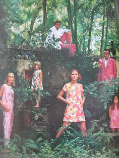 Left side of vintage print ad fold out for vintage Lilly Pulitzer (circa late 1960s).