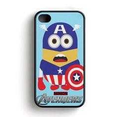 Avenger Minion Captain America iPhone 4|4S Case