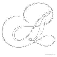 printable calligraphy alphabet | free calligraphy printable alphabets pic 7 alphabetstencils org 51 kb ...