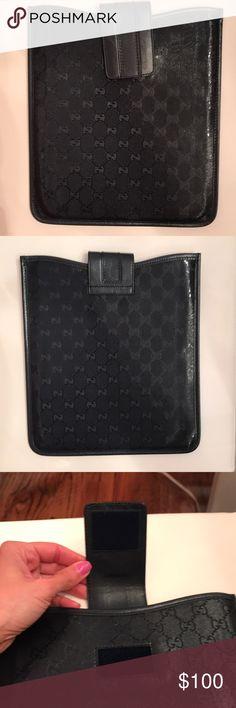 Gucci logo iPad case Gucci logo monogram  I pad case. Dark navy blue. Brand new. Never used. Perfect condition. Authentic Gucci. Gucci Accessories Laptop Cases