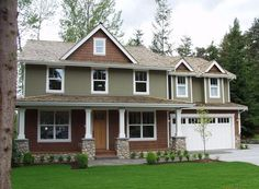 Front Exterior country craftsman home plan