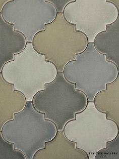 Moroccan, Arabesque, Unique, Ceramic, Tile, Kitchen, Bathroom, Backsplash  Studio V125 - Arabesque  The Tile Gallery (312) 467-9590 www.tilegallerychicago.com