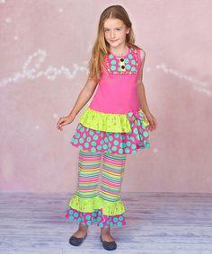 Pink Candy Dot Tunic & Pants - Infant, Toddler & Girls