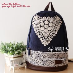 Japón Lotte encaje sincronización señoras lienzo bolso de ganchillo los japoneses Mori femeninas línea pequeña mochila bolsos frescos bolsa de hombro - Taobao