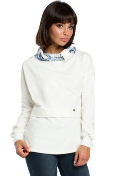 Sweatshirt model 121641 BE Hoodies, Sweatshirts, High Neck Dress, Turtle Neck, Model, Sweaters, Cotton, Dresses, Projects