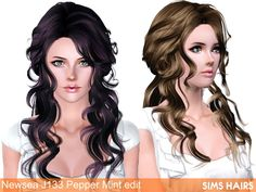 Newsea's J133 Pepper Mint hairstyle retextured by Sims Hairs for Sims 3 - Sims Hairs - http://simshairs.com/downloads-sims3-sims4/newseas-j133-pepper-mint-hairstyle-retextured-by-sims-hairs/