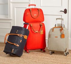 We're proud to showcase an exclusive luggage collection collaboratively designed with our favorite travel expert Samantha Brown. Soft, water-resistant finish has premium leather accents and intelligent organization inside & out. Comes in three classic colors and four different shapes & sizes.