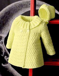 Beautiful Coat – Free Knitting Pattern – The best ideas Baby Cardigan Knitting Pattern Free, Kids Knitting Patterns, Baby Sweater Patterns, Baby Girl Patterns, Knit Baby Sweaters, Knitting Designs, Free Knitting, Knitting Baby Girl, Knitted Baby Cardigan