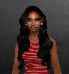 Afro Hair Sims 4 Cc, Sims 4 Curly Hair, Sims Hair, Curly Hair Styles, Curly Afro, Teen Girl Hairstyles, Cute Hairstyles For Teens, Sims 4 Mods Clothes, Sims 4 Clothing
