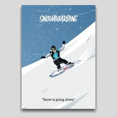 Snowboarding sports poster artwork design by Cocographic  Available now at displate Artwork Design, Cool Artwork, Print Artist, Snowboarding, Poster Prints, Stickers, Sports, Movie Posters, Snow Board