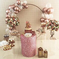 Garden Birthday, 18th Birthday Party, Birthday Table, Simple Birthday Decorations, Balloon Decorations, Birthday Party Decorations, 18th Party Ideas, Birthday Wishes Girl, Moana Themed Party