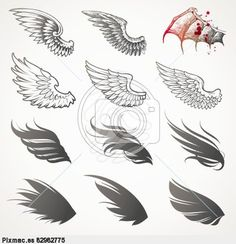 15 Cool Images of Baby Angel Wings Vector Art. Baby Angel Wings Clip Art Angel Wings and Halo Angel Wings Clip Art Black And White Angel Wings Clip Art Tattoo Angel Wings Clip Art Free Vector Images, Vector Art, Fish Vector, Vector Stock, Schulterpanzer Tattoo, Wing Tattoos, Tattoo Wings, Chest Tattoo, Tattoo Flash