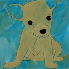 acrylics on canvas, chihuahua, 1 x 1 m