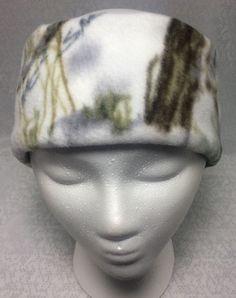 Ear Warmer Winter Headband, Ear Muff Unisex Winter Wear  - White Camouflage #JogginNogginHeadbands