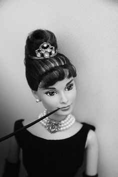 Barbie as Audrey #Hepburn.....this when you know you've finally arrived....