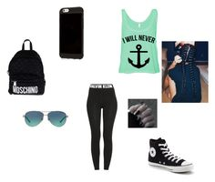 """Meee so Meeee"" by lyricsims ❤ liked on Polyvore featuring Calvin Klein, Converse, Moschino and Tiffany & Co."