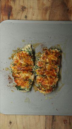 Frango laminado recheado com espinafre e ricota
