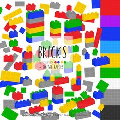 Building BlocksBricksBlocks Background | Etsy Monster Clipart, Comic Text, Simple Collage, Butterfly Clip Art, Us Images, Collage Sheet, Paper Background, Paper Design, Graphic