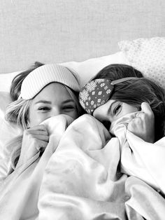 Yes, VS models actually get paid to snuggle. And giggle. And I'm completely okay with that. . (My guess: Candice S. and Behati P.)