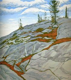 Blueberries in Fissures - Neil Welliver - WikiPaintings.org