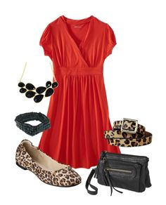Red and Leopard.  From Target, so thrifty style!