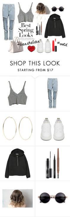"""Spring Look"" by trendhelden on Polyvore featuring Mode, H&M, WearAll, Kenneth Jay Lane, Golden Goose, MANGO und MAC Cosmetics"
