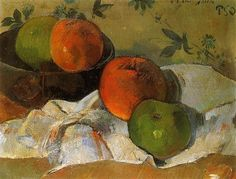 Apples in bowl - Paul Gauguin