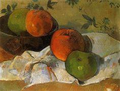 Apples in bowl - Paul Gauguin