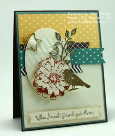 Choose Happiness for The Paper Players - The Stampin' Schach How To Make A Gift Bag, Cards For Friends, Friend Cards, Bee Cards, Card Sketches, Scrapbook Cards, Scrapbooking, Creative Cards, Homemade Cards