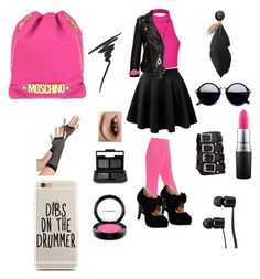 """I Didn't Listen-But look where it got me."" by fierce-fashion-cat on Polyvore featuring Pretty Polly, Ally Fashion, LE3NO, Moschino, Anine Bing, Crayo, Ettika, Vans, MAC Cosmetics and Max Factor"