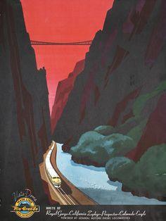 Bern Hill Vintage Travel Poster