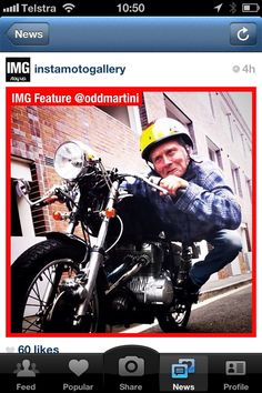 My brother getting famous on Instagram... #CafeRacer