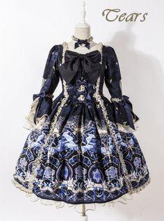 Lolita Goth, Gothic Lolita Fashion, Gothic Dress, Lolita Dress, Harajuku Fashion, Kawaii Fashion, Cute Fashion, Fashion Outfits, Beautiful Outfits