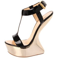 Giuseppe ... these shoes must be painful to walk in. You can't even call them heels, cause there is none!!