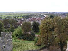 Arundel Castle: View of the town of Arundel and the river Arun beyond, from the top of the keep Arundel Castle, The Beautiful Country, England, River, Explore, Mountains, Top, English, British