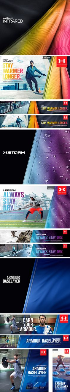 UNDER ARMOUR: CGI Fabrics on The Digital Age - brilliant use of product photos.