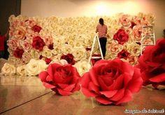 Flores gigantes de papel decoração