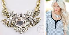J.Crew Inspired Crystal Compilation Statement Necklace only $19.99! (Reg. $79.50) #jewelrydeals #jcrew