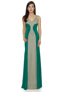 Sparkle and glow in this exquisite long sequin dress from Vero Milano! A unique long sequin dress with a low V-neckline and a glamorous train. Green Evening Dress, Evening Dresses, Prom Dresses, Formal Dresses, Long Sequin Dress, Emerald Green Dresses, Luxury Dress, Designer Gowns, V Neck Tops