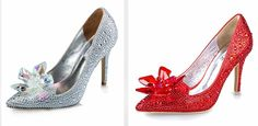Optional Colors crystal wedding shoes