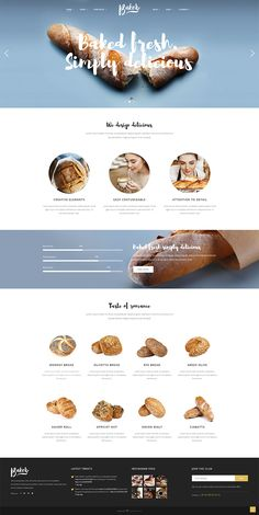 We've equipped Baker WordPress theme with all the features your bakery business may need. Building a mouth-watering website has never been easier! Bakery Website, Restaurant Website Design, Food Website, Website Design Layout, Web Layout, Layout Design, Maquette Site Web, Wireframe Web, Food Web Design