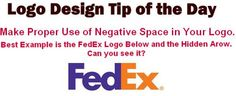 Make use of Negative space wisely in your logo design. Like you can see how wisely the Arrow is drawn in this FedEx Logo.