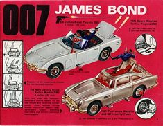 I had the Goldfinger Aston Martin Corgi toy car, complete with machine guns, bullet proof shield and ejector seat!