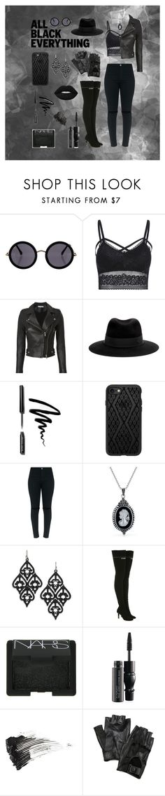 """""""◼️◾️▪️Black out ▪️◾️◼️"""" by liz-lite on Polyvore featuring The Row, IRO, Maison Michel, Bobbi Brown Cosmetics, Casetify, Bling Jewelry, Vetements, NARS Cosmetics, MAC Cosmetics and Smith & Cult"""