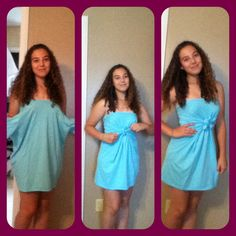 T shirt cover up. NO SEW no sew NO SEW! refashioned tee shirt in men's large turned to into a dress