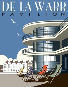 Poster for the De La Warr Pavilion, Bexhill on Sea