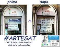 #ARTESAT !!!! #Vetrina prima-dopo !!!! www.artesat.it #as96 #aspc #stgoasbl #staswpbl  #stdwasfbpg #stdwfbac #sttcanot #stasappi #sttegfbac #sttggsp