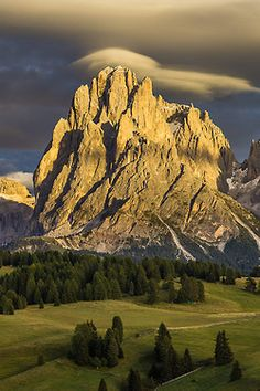 ponderation: Lenticular clouds forming over Italy Sassolungo South Tyrol Trentino-Alto Adige hanskrusephotography