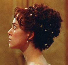 Kiera Knightly's hair in the movie Pride And Prejudice...this is the hair style I am doing for the Wedding day <3