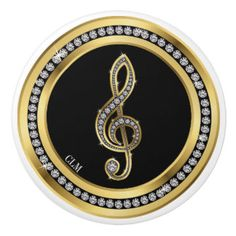 Revised Bling Music Note Cabinet Knobs Ceramic Knob